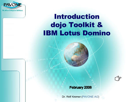 Introduction Dojo Toolkit & IBM Lotus Domino - presentation