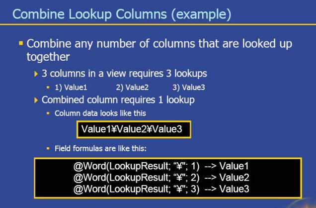 combining multiple dbcolumns